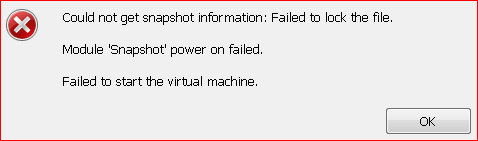 Module 'Snapshot' power on failed.