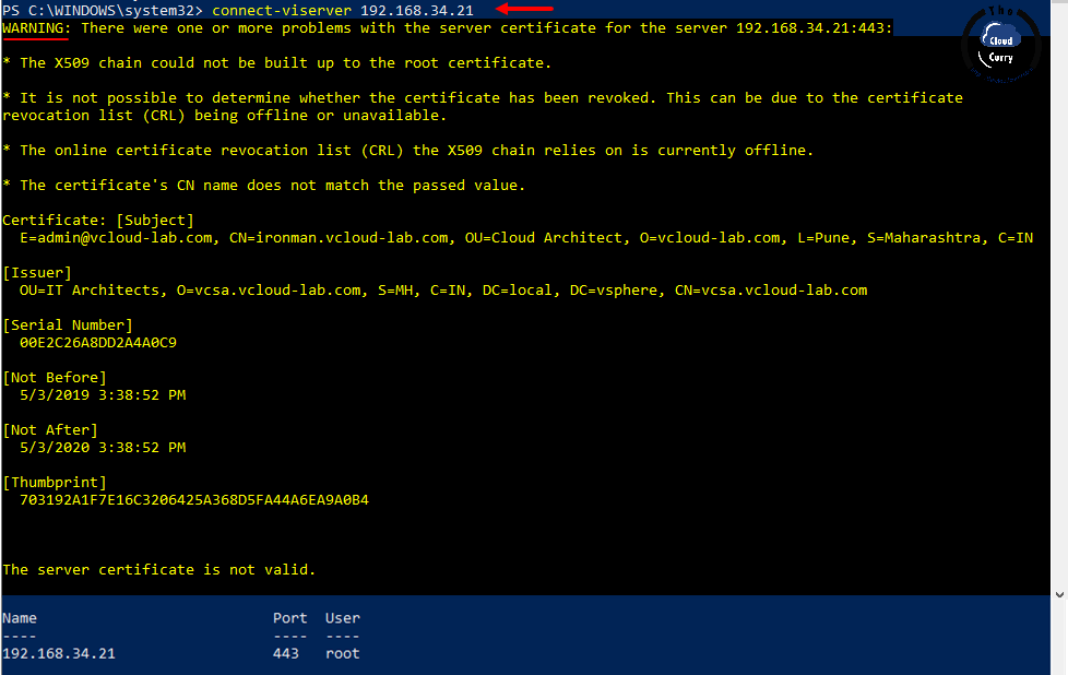 vmware-vsphere-powercli-connect-viserver-x509-module-root-certificate-self-signed-certificate-online-certificate-revocation-list-CRL.png