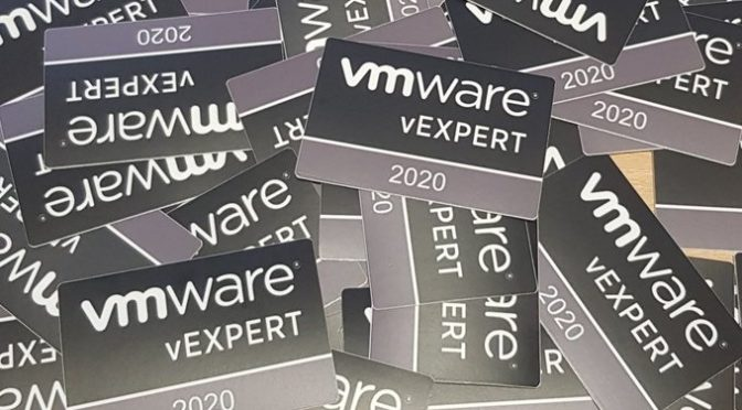 Annual vExpert 2020 Sticker Giveaway