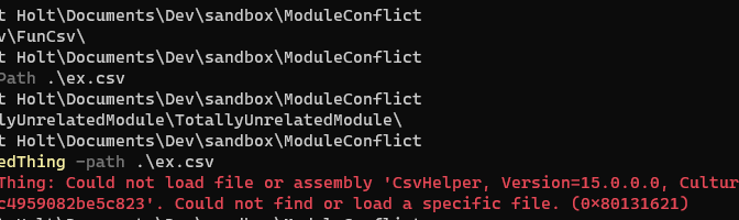 Resolving PowerShell Module Assembly Dependency Conflicts